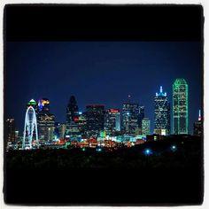 Dallas skyline is so beautiful at night!!