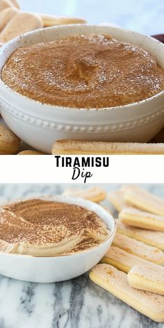 This tiramisu dip recipe has the flavor of a tiramisu dessert, but in an easy, fun, dip-able format! It's always a party favorite! Simple to make with mascarpone, cream cheese, espresso powder, vanilla extract, and cocoa powder. It's sweetened with a touch of powdered sugar and its fluffy texture comes from heavy whipping cream. It's the perfect balance of coffee and chocolate flavors without either being overpowering. Serve with apple slices, ladyfingers, graham crackers, or vanilla wafers. Flavored Cream Cheeses, Cream Cheese Desserts, Cream Cheese Dips, Cream Cheese Recipes, Dessert Dips, Fun Desserts, Delicious Desserts, Dessert Recipes, Tiramisu Dip Recipe