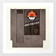 Nostalgia in a Nintendo Cartridge Art Print by sbs' things - $15.00