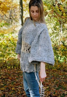 NEW for F/W 2012-13. The EarthenPurl BatWing. Super chunky, earthy and oversized sweater. Experience Woodland Warmth...by EarthenPurl.. $199.00, via Etsy.