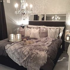 Black Grey Silver Loft •~• bedroom