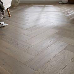 Grey Brushed and UV Lacquered Click Herringbone Engineered Oak Wood Flooring, Thick Flooring Cost, Luxury Flooring, Solid Wood Flooring, Engineered Wood Floors, Best Flooring, Kitchen Flooring, Hardwood Floors, Floating Floor, Lounge Design