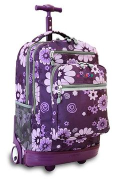 rolling backpacks for tween girls | Backpack Headquarters Polka ...