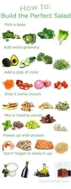 If your trying to lose weight this is a great way to do so.. It has everything your body needs.. Kelly Whynaught,, This sounds like a good salad for you in the sense you love a lot of the ingredients!!!