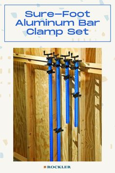 "Lightweight aluminum bars paired with our ultra-stable Sure-Foot base. This set comes with 24"" and 48"" clamps--check them out here!  #createwithconfidence #rockler #surefoot #barclamp #aluminumclamp"