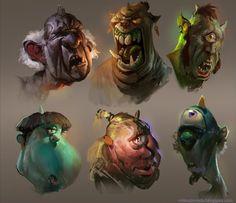 Ogre heads by PkLklMike.deviantart.com