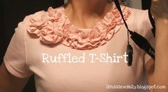 Life is {Sew} Daily: Turtleneck to Ruffled T-Shirt {Tutorial}