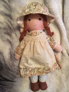 "Vintage Knickerbocker Holly Hobbie Friend HEATHER  9"" Rag Doll NM CLEAN #Knickerbocker #Dolls"