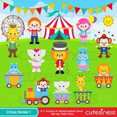 Circus Digital Clipart Circus Animal Clipart Animal by Cutesiness
