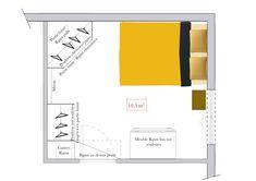 Dressing dans une chambre : agencement en modules Diy Dressing, Grand Dressing, Interior Sketch, Interior Design, Etagere Design, Bar Chart, Floor Plans, Room Decor, Layout