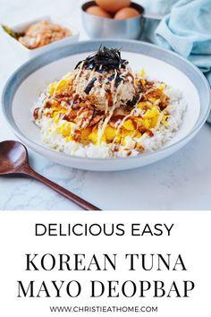 Easy Asian Recipes, Korean Recipes, Simply Recipes, Seafood Recipes, Beef Recipes, Best Korean Food, Tuna Mayo, Delicious Recipes, Yummy Food