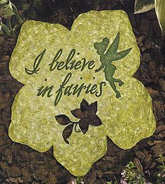 Tinker Bell Stepping Stone I Believe in Fairies Fairy Dust, Fairy Land, Fairy Tales, Hades Disney, Dragons, Disney Garden, Halloween Wall Decor, Fairy Gifts, Disney Fairies