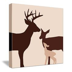 This would be cute in a baby's room with a hunting/nature theme. :-)