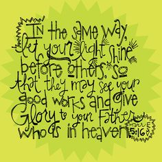 Matthew 5:16 - school year theme ideas