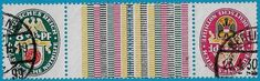 + 1929 Germany Arms Crest Semi-postal Bob Pane Sennet Tete Beche #B29,B30 Berlin