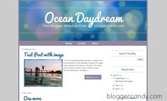 Blogger Candy | Ocean Daydream – read more blogger template | http://www.bloggercandy.com