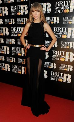 Taylor Swift wears ELIE SAAB PreFall 2013 to the Brit Awards.