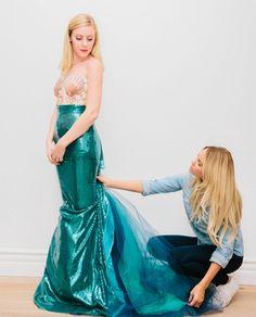 Meerjungfrau Kostüm aus Paillettenstoff selber nähen