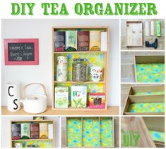 50 Clever DIY Ways To Organize Your Entire Life: Tea Shelf