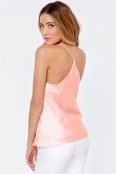 Just My Luxe Light Pink Tank Top