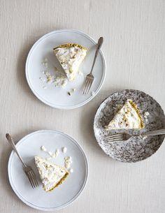 coconut cream pie with a pistachio + coconut crust (gf+df)