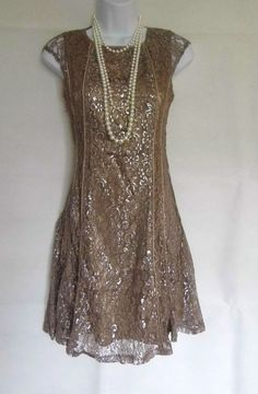 20'S 30'S GATSBY VINTAGE LACE CHARLESTON FLAPPER DRESS SIZES 8 10 12 14 16 18 in Kleidung & Accessoires, Damenmode, Kleider | eBay