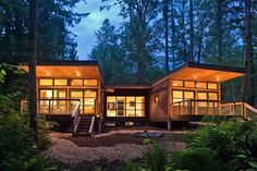Built in less time than a traditionally-built home, prefab architecture offers great, modern digs in smartly designed, often compact, packages.