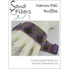 Peyote Pattern  Narrow Fall Ruffles Peyote Cuff / by SandFibers, $10.00