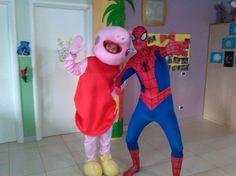 le nostre mascotte:  #peppapig  #spiderman