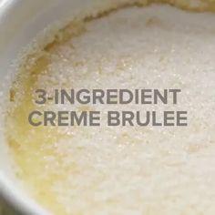 Super easy 3-Ingredient Creme Brulee
