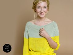 knitted sweater yellow pale green merino theknitkid. €169,90, via Etsy.