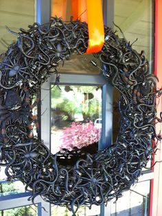 spooky, creepy halloween bug wreath