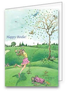 A great birthday card for the golfing gal in your life! Find it at greetings4golfers.com