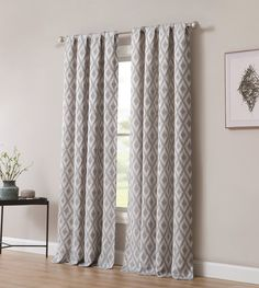 Shop for Kalahari Jacquard Window Curtain with Rod Pocket -Single Panel, Inspired Surroundings by 1888 Mills. Get free delivery On EVERYTHING* Overstock - Your Online Home Decor Outlet Store! Cool Curtains, Blue Curtains, Rod Pocket Curtains, Window Curtains, Curtains Living, Blackout Curtains, Window Rods, Window Panels, Bay Window