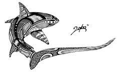 Manta Ray by Mrblcvk on DeviantArt - Thresher shark by Mrblcvk on DeviantArt - Polynesian Tattoos Women, Polynesian Art, Polynesian Tattoo Designs, Tattoo Designs Men, Filipino Tattoos, Hai Tattoos, Bild Tattoos, Tattoos For Guys, Tribal Shark Tattoos