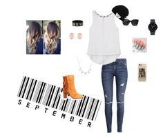 """""""Happy fall y'all"""" by trinitywilliams-tw ❤ liked on Polyvore featuring Giuseppe Zanotti, H&M, Rebecca Minkoff, Chanel, Kenneth Jay Lane, Vans, Casetify and The Horse"""