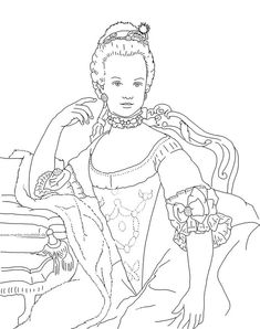 Marie Antoinette Coloring Pages - Yahoo Image Search Results