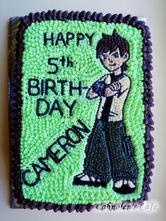 Ben 10 star icing cake