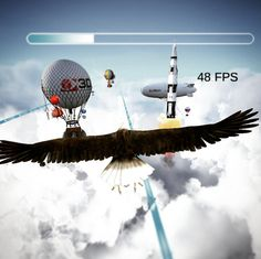 An awesome Virtual Reality pic! Testing #MoonBird on #vicovr by #3divi company. #virtualreality #vr #cardboard #gearvr #games #awesome #rocket #eagle by alexey.stolyar check us out: http://bit.ly/1KyLetq