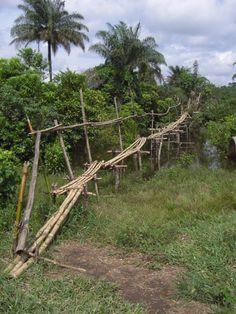 Bridge in Liberia, although my couple crosses a rope version.