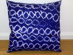 Group of: Blue White Circles African Tie and Dye Pillow Cushion by ...