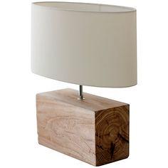 Buy Garden Trading Megeve Reclaimed Elm Wood Table Lamp Online at johnlewis.com