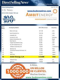 El nuevo ranking de la Asociacion de venta directa DSN, Por supuesto que Ambit esta bien posicionada..!