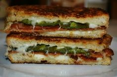 Bacon & Jalapeno Popper Grilled Cheese Sandwiches. I did pepper jack cheese instead of the cream cheese mixture and it was delicious. Good on Udi's sourdough.
