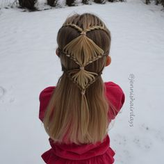 Lace braid half up do by Jenni's HAirdays Modern Hairstyles, Up Hairstyles, Pretty Hairstyles, Braided Hairstyles, Lace Braid, Braided Half Up, Hair Tattoos, Different Hairstyles, Little Girl Hairstyles