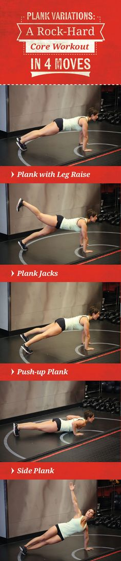 You've mastered the standard plank? Try out these four plank variations guaranteed to test your strength and increase the power of your core! #CoreExercises