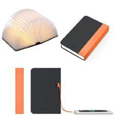 Maison Maxx Woody Colorful Mini Portable Folding LED Book Lamp, Night Light with…