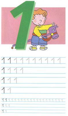 schrijfoefening 1 Preschool Number Worksheets, Teaching Numbers, Numbers Preschool, Preschool Printables, Preschool Activities, Kids Learning Alphabet, Alphabet Activities, Fun Learning, Phonics Song