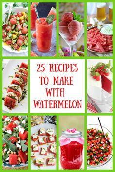 Cucumber Watermelon Salad, Watermelon Drinks, Pickled Watermelon Rind, Watermelon Pickles, Watermelon And Feta, Watermelon Recipes, Easy Delicious Recipes, Yummy Snacks, Yummy Food