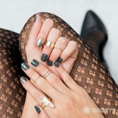 Nails! Jamberry Brooklyn Bridge with Pewter